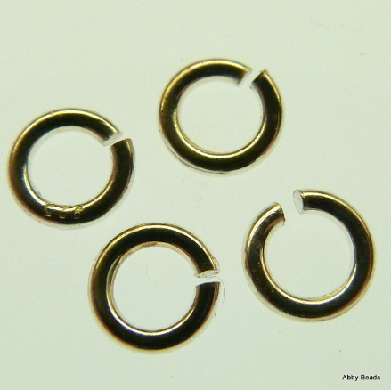 10 X 5 mm Sterling Silver open jump rings 1 mm wire.
